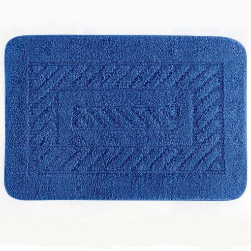 Tappeto Carrè azzurro rettangolare