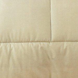 Trapunta in cotone Bicolor color sabbia di Caleffi