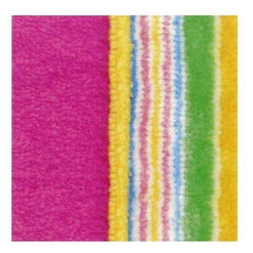 Accappatoio con cappuccio per ragazzi in tinta unita con bordo applicato multicolore