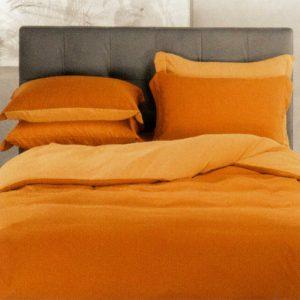 completo-copripiumino-modern-di-caleffi-arancio