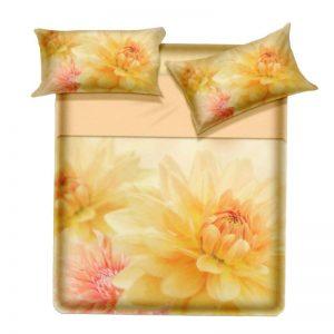 Completo lenzuola copriletto matrimoniali Ninfa di Biancaluna