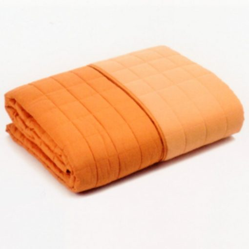Copriletto Modern tinta unita double di Caleffi arancio