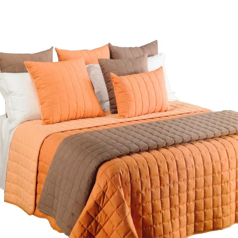 Piumone Matrimoniale Arancione.Copriletto Caleffi Matrimoniale Arancio In Microfibra