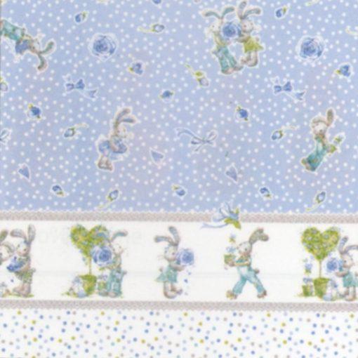 Trapuntino con paracolpi Bell di Biancaluna azzurro