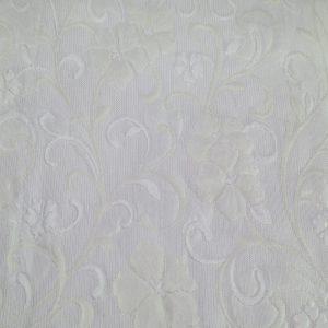 Copriletto matrimoniale Denise Matelassè di Zambaiti naturale con piccoli fiori disegnati tono su tono