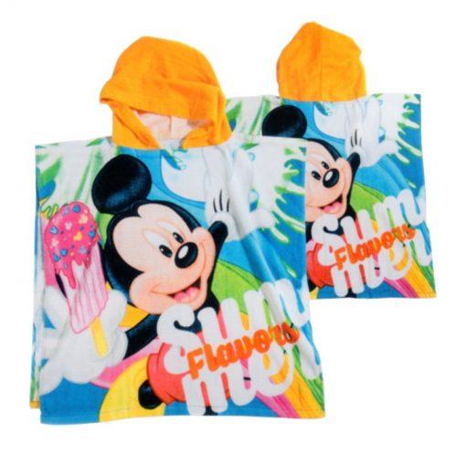 Telo mare Poncho Mickey Summer di Caleffi