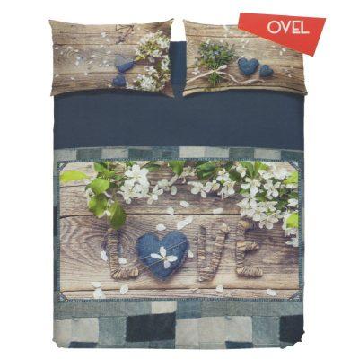 Copripiumino Matrimoniale Ovel di Biancaluna - Parure Copripiumino