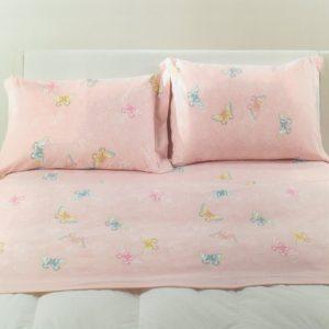 Lenzuola in flanella Kiss di Caleffi rosa