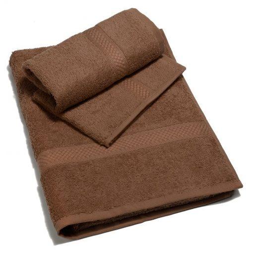 Asciugamano in tinta unita Minorca di Caleffi caffè