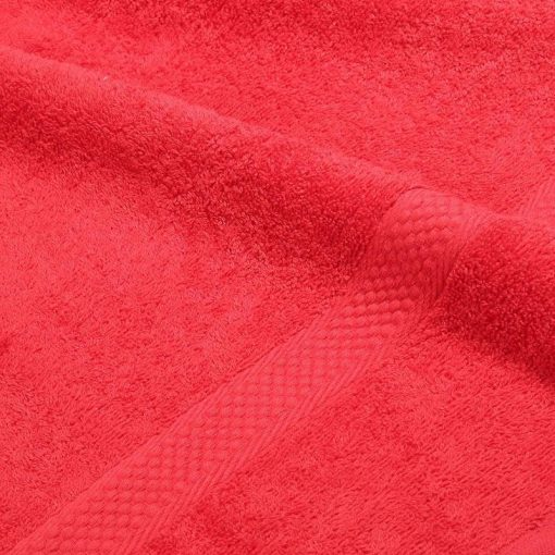 Asciugamano in tinta unita Minorca rosso