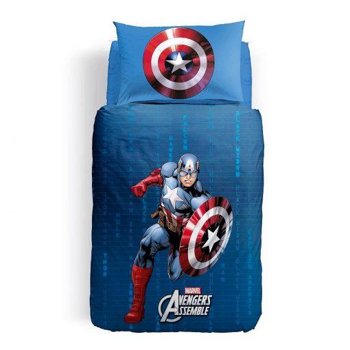 Copripiumino Captain America in cotone