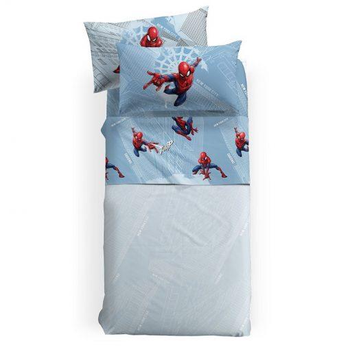 Lenzuola Spider Man Manhattan di Caleffi