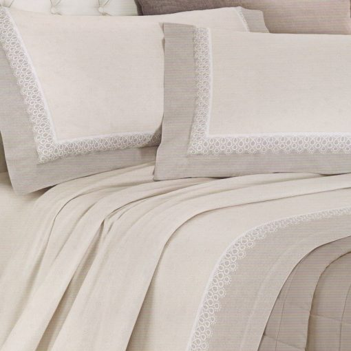 Lenzuola matrimoniali in flanella Venezia - Completo letto