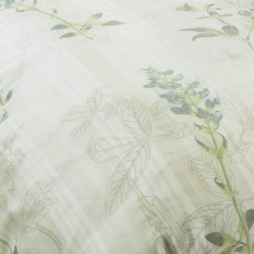 Copripiumino matrimoniale Soft Green in cotone - particolare