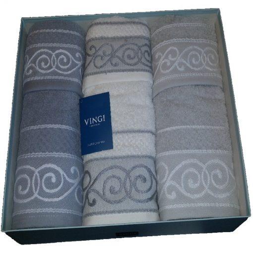 Asciugamani in spugna Anita di Vingi con ricamo jacquard