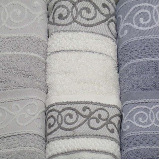 3 + 3 asciugamani viso + ospite grigio