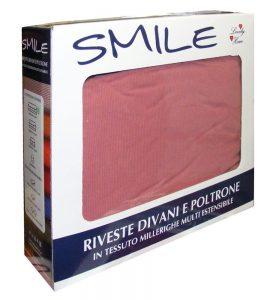 Copripoltrona tinta unita elasticizzato Smile confezione