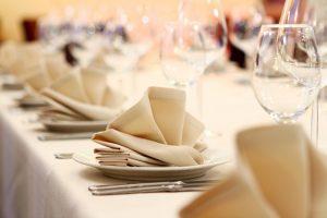 Tavolo per cena elegante