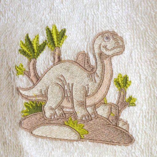 Accappatoio bambini con cappuccio Piccoli Pulcini Dinosauro