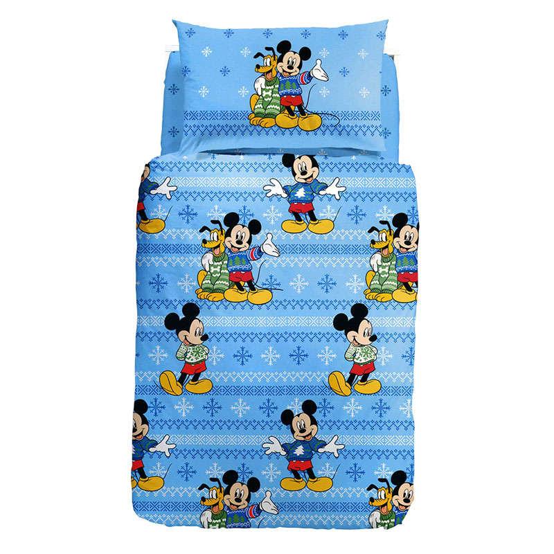 Completo Copripiumino Caleffi Disney.Copripiumino Disney Mickey E Pluto Di Caleffi