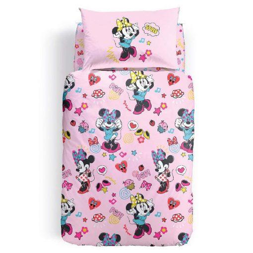 Copripiumino Minnie Pop in cotone di Caleffi-Completo letto