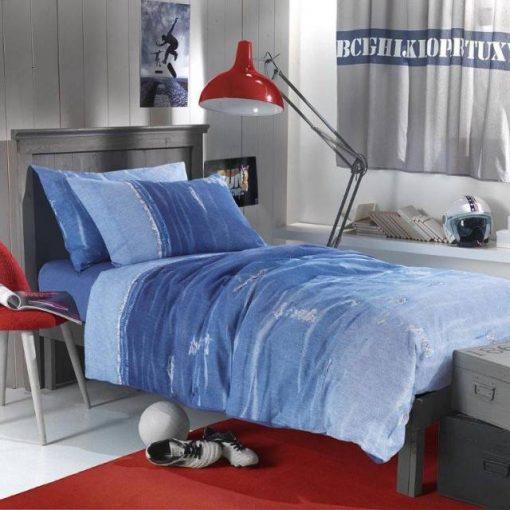 Copripiumino singolo azzurro Street Wear di Gabel - Completo copripiumino
