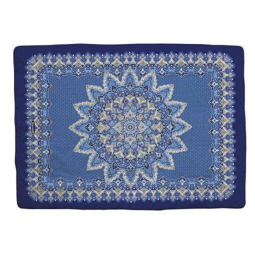 Scaldotto in cotone Luxury di Caleffi color blu