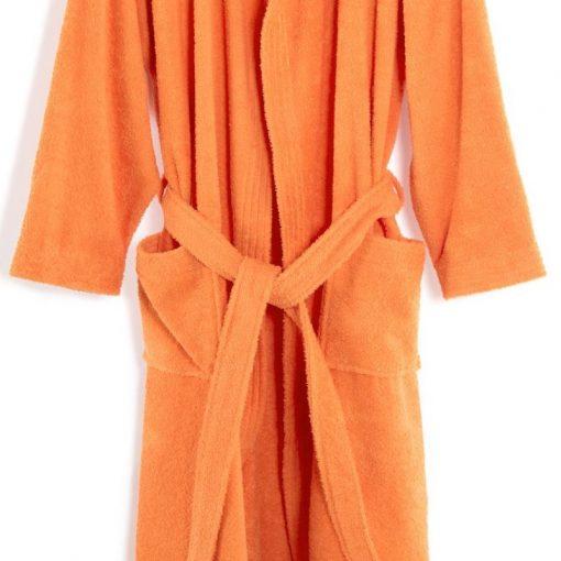 Accappatoio in spugna tinta unita Minorca arancio