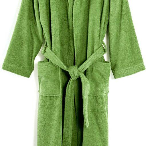Accappatoio in spugna tinta unita Minorca verde