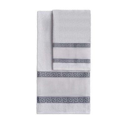 Asciugamani Aida di Vingi bianco