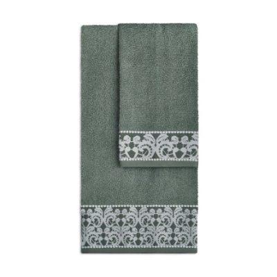 Asciugamani Elena di Vingi verde