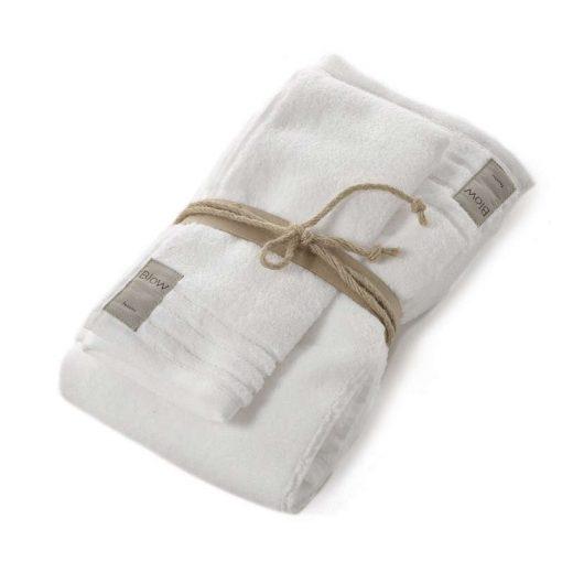 Asciugamani in spugna Coccola di Fazzini bianco