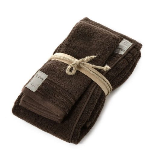 Asciugamani in spugna Coccola di Fazzini marrone