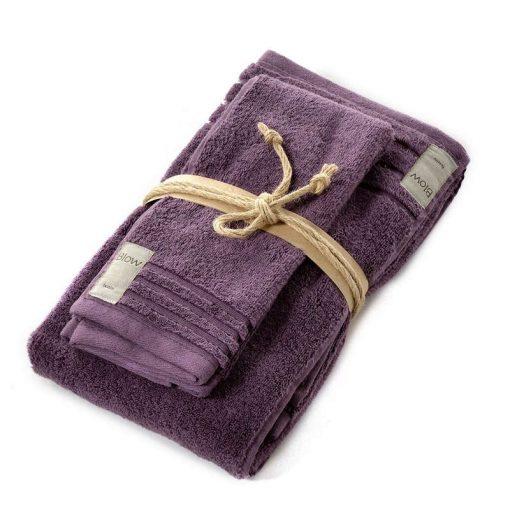 Asciugamani in spugna Coccola di Fazzini melanzana