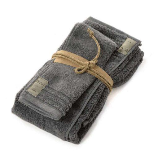 Asciugamani in spugna Coccola di Fazzini piombo