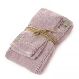 Asciugamani in spugna Coccola di Fazzini quarzo