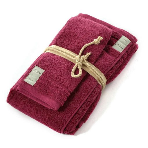 Asciugamani in spugna Coccola di Fazzini rubino
