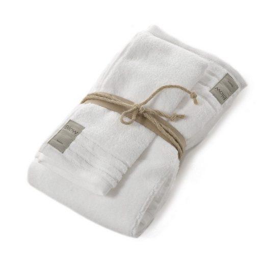 Asciugamano Fazzini viso e ospite bianco