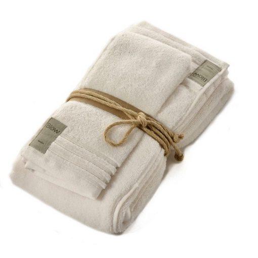 Asciugamano Fazzini viso e ospite panna