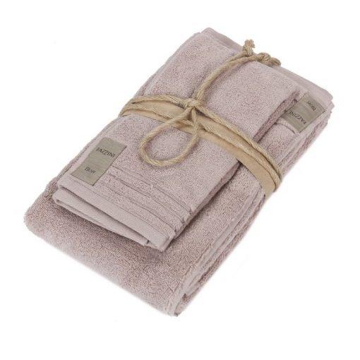 Asciugamano Fazzini viso e ospite rosa boho