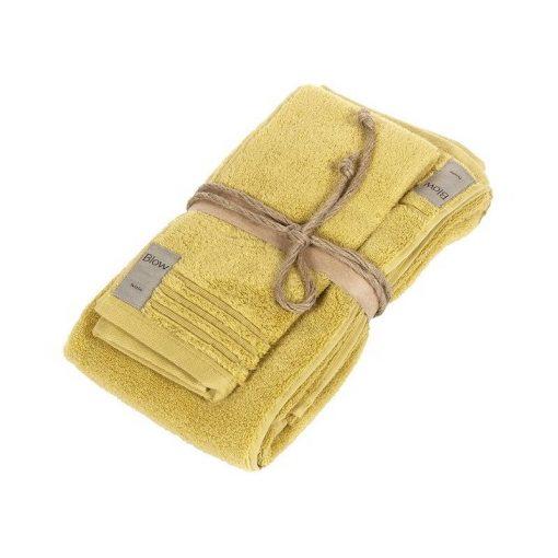 Asciugamano Fazzini viso e ospite senape