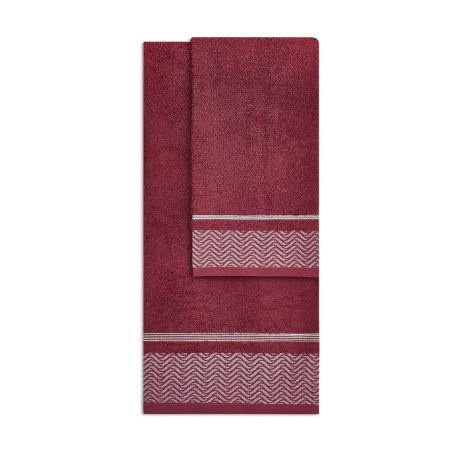 Asciugamano Onde di Vingi bordeaux