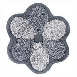 Tappeto bagno antiscivolo sagomato Flower grigio
