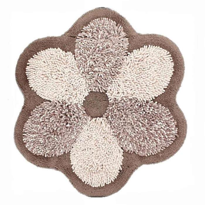 Tappeto bagno FLOWERS diametro cm.75 grigio