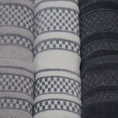 Asciugamani Susanne viso + ospite grigio