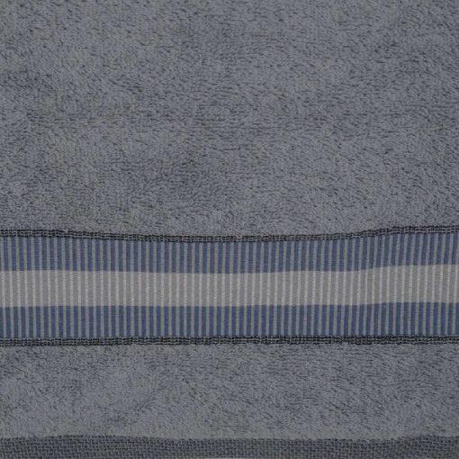 Asciugamani avio in spugna con rifinitura balza tono su tono