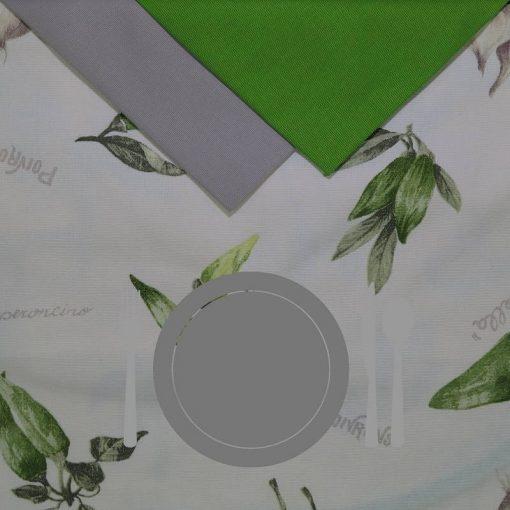 Tovaglia 12 posti con tovaglioli Aromi con disegni di erbe aromatiche