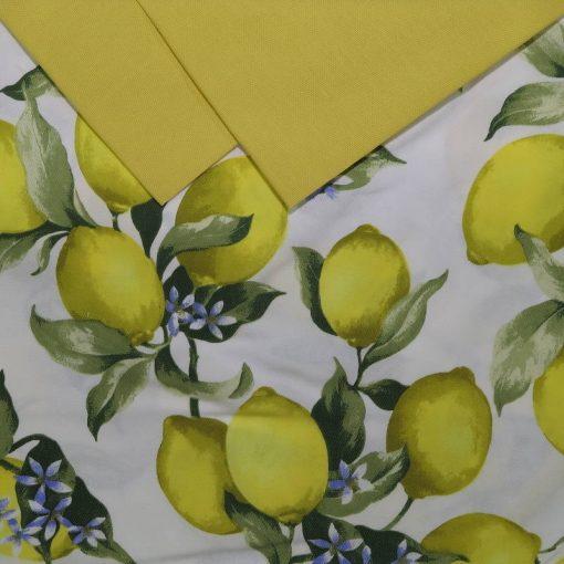 Tovaglia 12 posti con tovaglioli con il disegno di Limoni