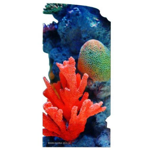 Telo mare sagomato in microfibra Coral che riproduce coralli sul fondo marino