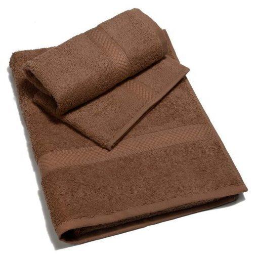 Asciugamano spugna in tinta unita Minorca di Caleffi caffè